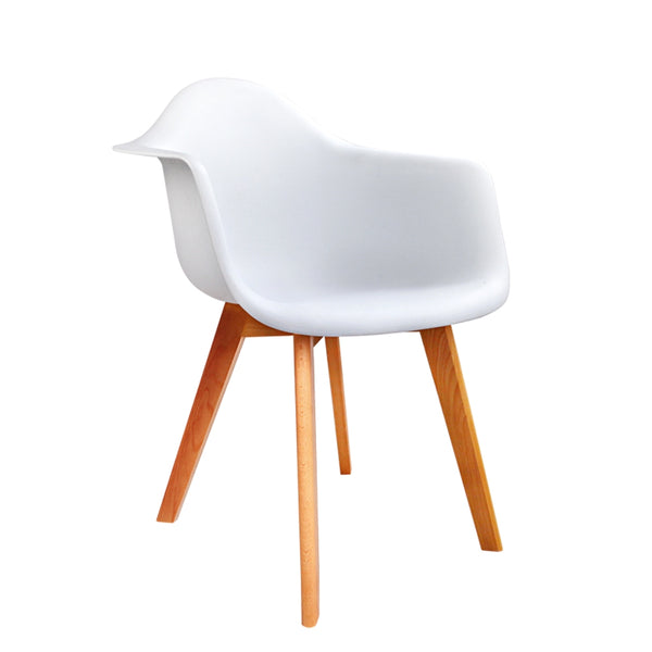 Artiss Set of 2 Replica Eames Dining Chairs - White