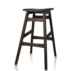 Artiss Set of 2 Wooden and Padded Bar Stools - Black