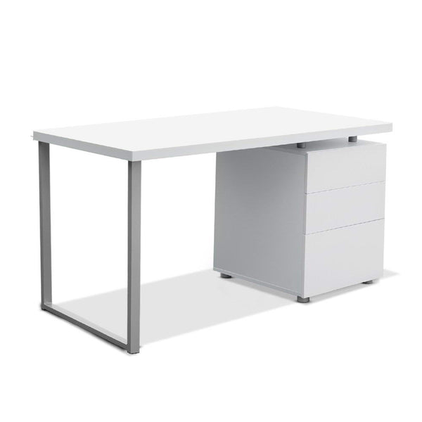 Superior Seating Metal Desk with 3 Drawers - White