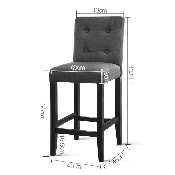 Superior Seating Set of 2 French Provincial Dining Chair - Charcoal