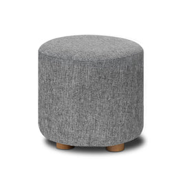 Fabric Round Ottoman - Grey | Superior Seating | Premium Office Chairs, Lounge Chairs, Dining Chairs, Gaming Chairs, Bar Stools and Massage Chairs