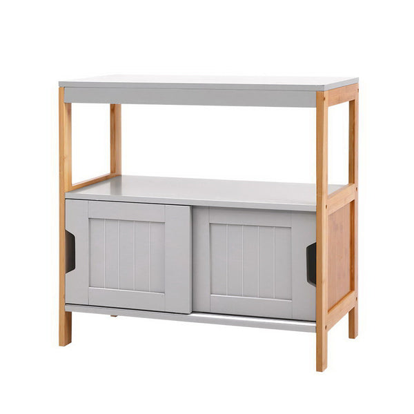 Superior Seating Buffet Sideboard Cabinet Storage Shelf Cupboard Hallway Tabe Sliding Door