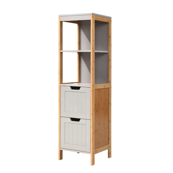 Superior Seating Bathroom Cabinet Tallboy Furniture Toilet Storage Laundry Cupboard 115cm