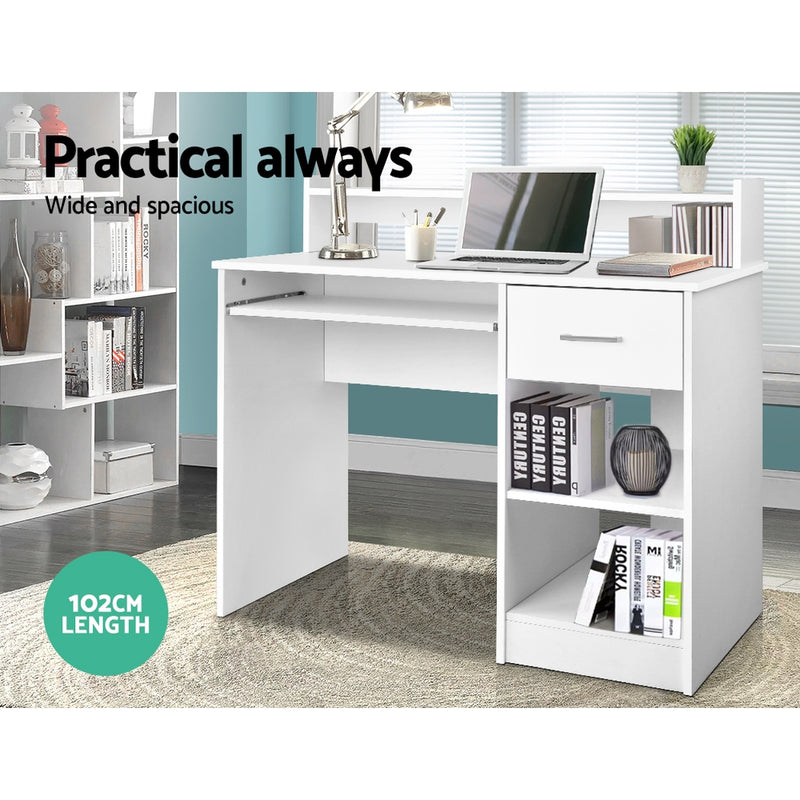 Superior Seating Office Computer Desk with Storage - White