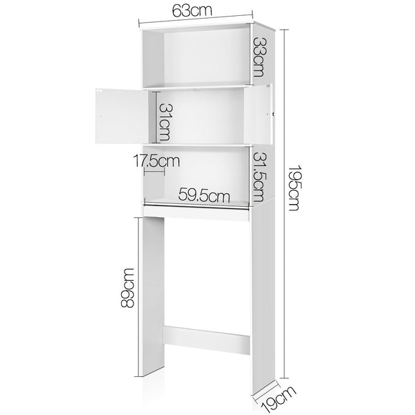 Superior Seating Bathroom Storage Cabinet - White
