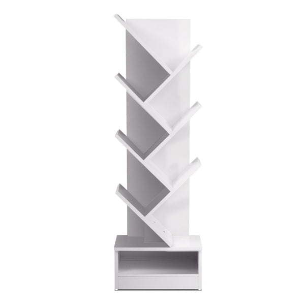 Superior Seating Display Shelf 7-Shelf Tree Bookshelf Book Storage Rack Bookcase White