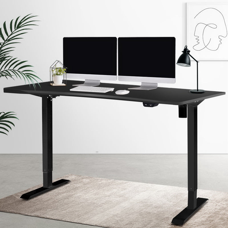 Superior Seating Roskos I Electric Motorised Height Adjustable Standing Desk Sit Stand Table Curved 140cm Black