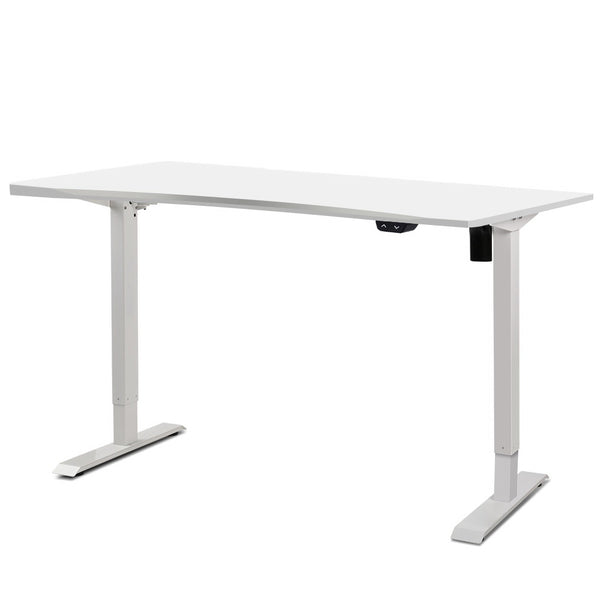 Superior Seating Roskos I Electric Motorised Height Adjustable Standing Desk Sit Stand Table Curved 140cm White