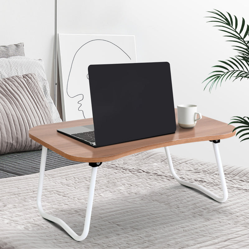 Portable Bed Tray Table - Light Wood