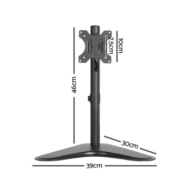 Single HD LED Monitor Arm Stand TV Mount Bracket Holder Freestanding