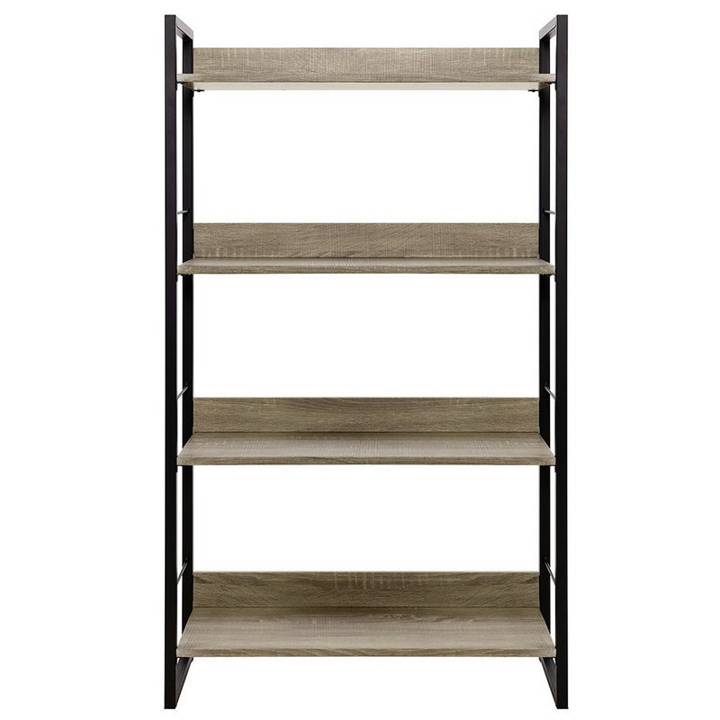 Superior Seating Book Shelf Display Shelves Corner Wall Wood Metal Stand Hollow Storage