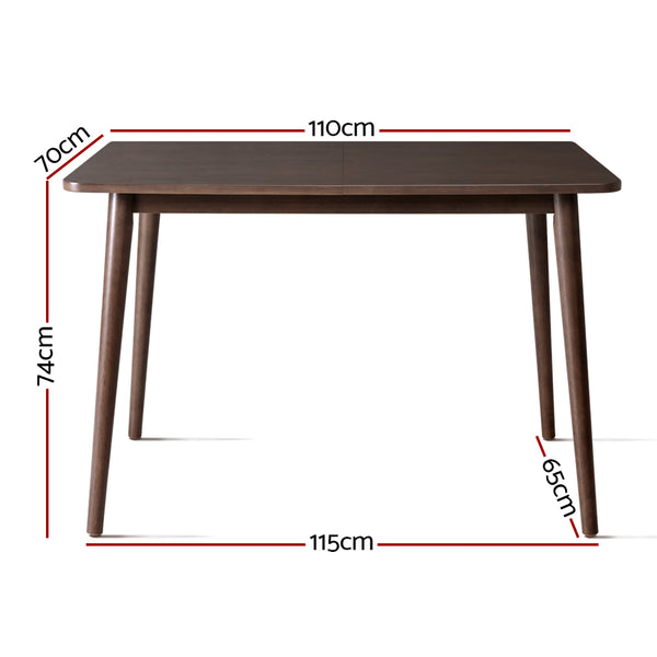 Superior Seating Dining Table 4 Seater Tables Square Wooden Timber scandanavian 110x70cm