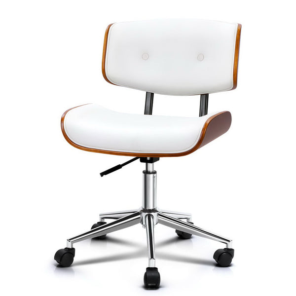 Superior Seating Executive Wooden Office Chair Leather Computer Chairs Seat Bentwood White