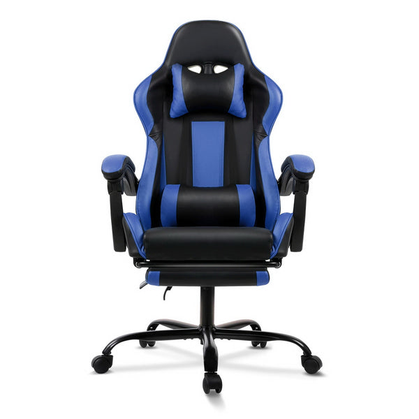 Gaming Office Chair Computer Seating Racer Black and Blue | Superior Seating | Premium Office Chairs, Lounge Chairs, Dining Chairs, Gaming Chairs, Bar Stools and Massage Chairs