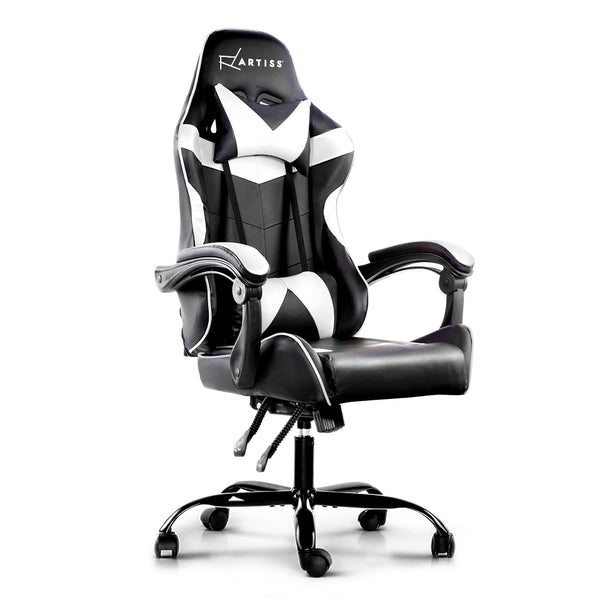 Superior Seating Gaming Office Chairs Computer Seating Racing Recliner Racer Black White
