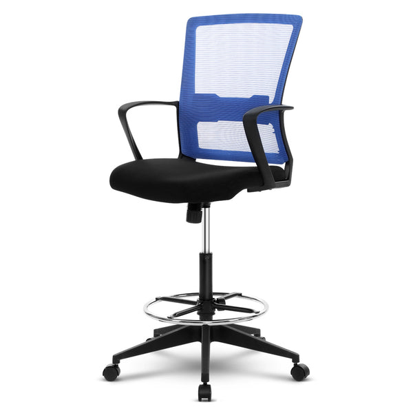 Superior Seating Office Chair Veer Drafting Stool Mesh Chairs Black Standing Chair Stool