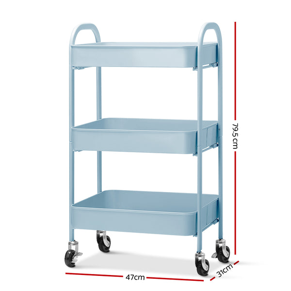 Superior Seating Kitchen Storage Cart Portable Trolley Rolling Shelf Rack Wheels Ofiice