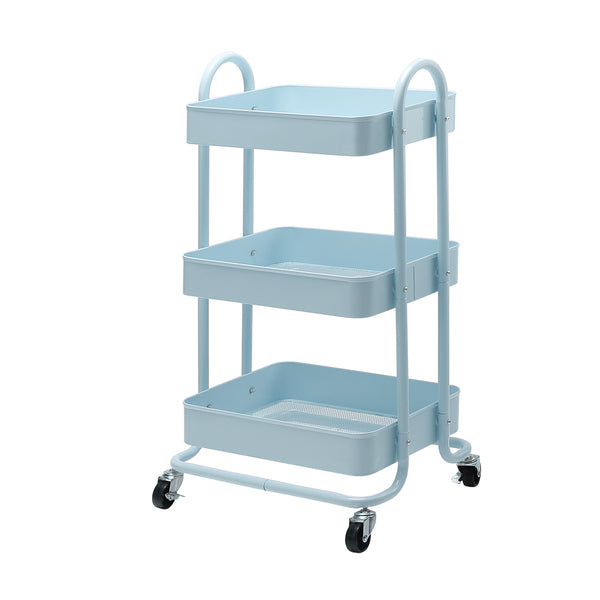 Superior Seating 3 Tier Kitchen Trolley Cart Utility Rolling Storage Shelf Rack Portable