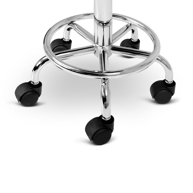 Artiss PU Leather Swivel Salon Stool - Black/White