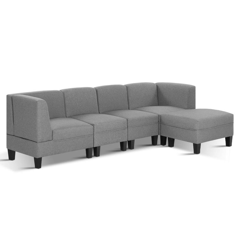 Superior Seating 5 Seater Sofa Set Bed Modular Lounge Chair Chaise Fabric
