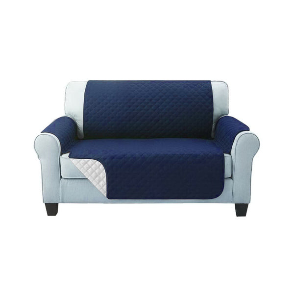 Superior Seating Sofa Cover Quilted Couch Covers Protector Slipcovers 2 Seater Navy