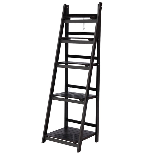Superior Seating Display Shelf 5 Tier Wooden Ladder Stand Storage Book Shelves Rack Coffee