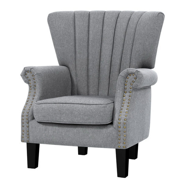 Superior Seating Upholstered Fabric Armchair Accent Tub Chairs Modern seat Sofa Lounge Grey