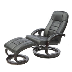 Leather Massage Chair & Ottoman - Black | Superior Seating | Premium Office Chairs, Lounge Chairs, Dining Chairs, Gaming Chairs, Bar Stools and Massage Chairs