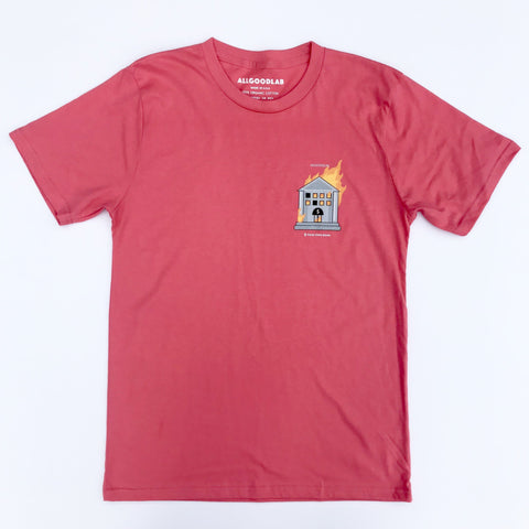 B Your Own Bank Coral Tee allgoodlab