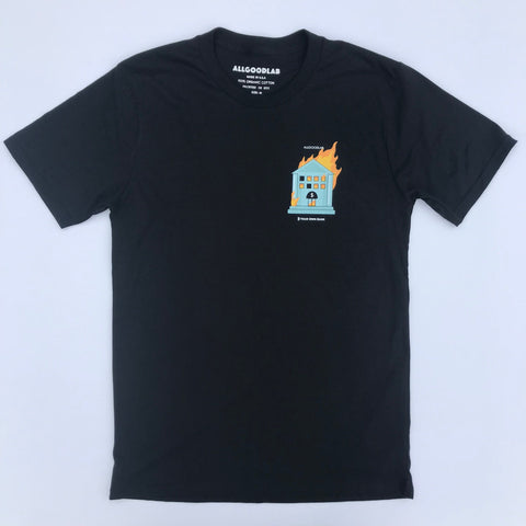 B Your Own Bank Black Tee allgoodlab