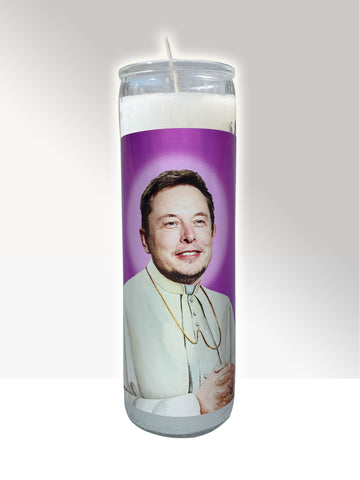 Elon Musk Prayer Candle ALLGOODLAB