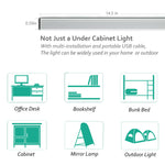 LED Under Cabinet Lighting Bar, Dimmable, 3 Color,USB Powered
