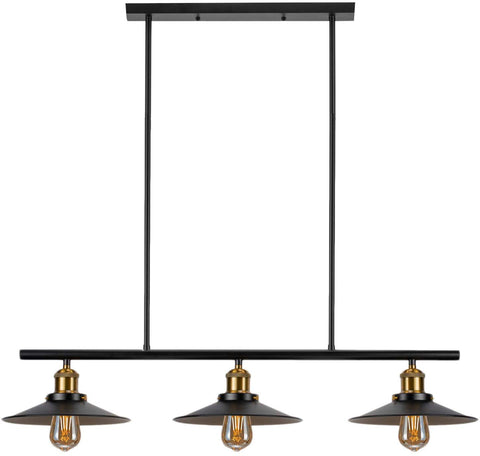 3-Light Kitchen Island Pendant Lighting Industrial Chandelier