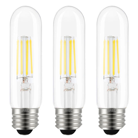 Dimmable LED Tubular Edison Light Bulbs 4W (T10-4000K,3-Pack)