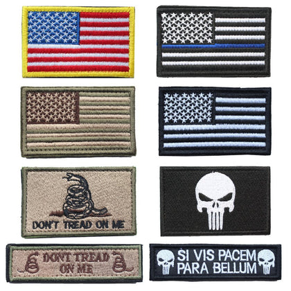 Patriotic Velcro Patches for Hats and Backpacks