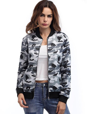 Autumn New Long Sleeve Zipper Camouflage Fashion Comfortable Jacket