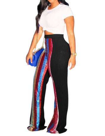 black stripe sporty pants
