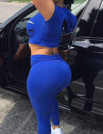 Buy cheap blue sportswear set online