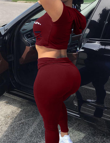 Buy cheap burgundy sportswear set online