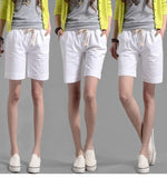 Loose Mid-Waist Straight Cotton Lace-Up Pocket Patchwork Shorts - Fancyqube