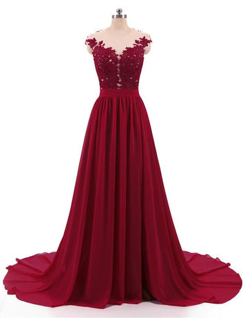 Burgundy prom dress online