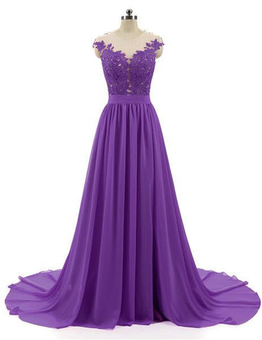 Purple lace party dress