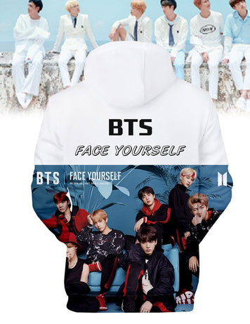 bts 3d print hooded sweatshirt