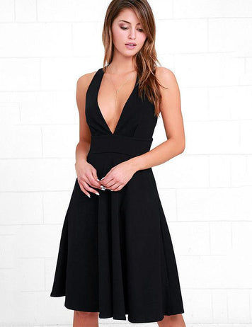 sexy slim waist sleeveless prom dress