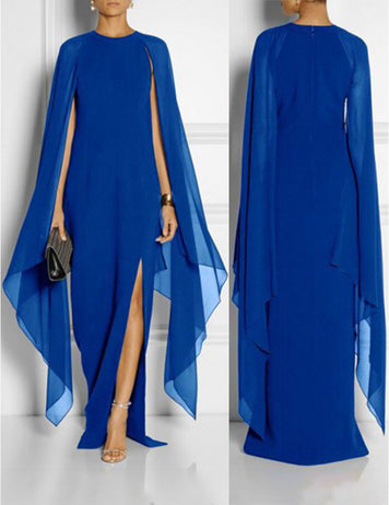 Blue Chiffon Long Dress Online