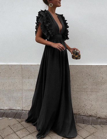 Ruffled Party Maxi Dress