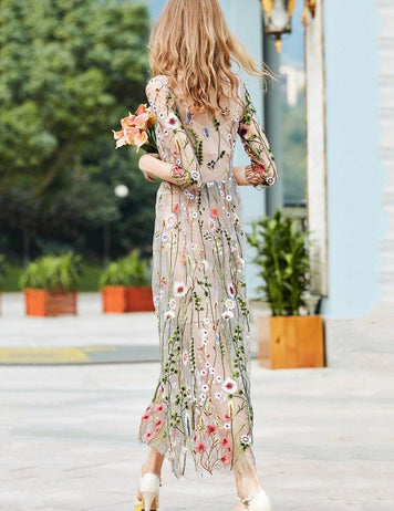 embroidered daytime dress