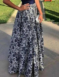 Sexy Fashion V Neck Floral Printed Maxi Dress