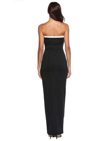 New Sexy Sweetheart Front Split Black Party Maxi Dress