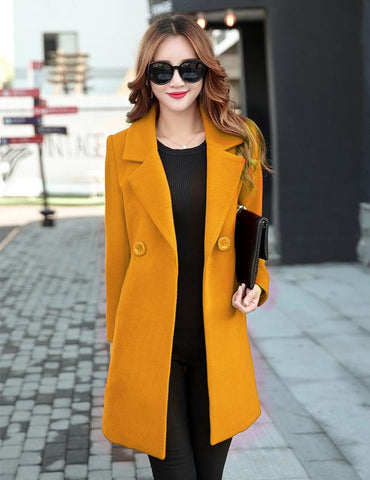 Long Pea Coat Womens